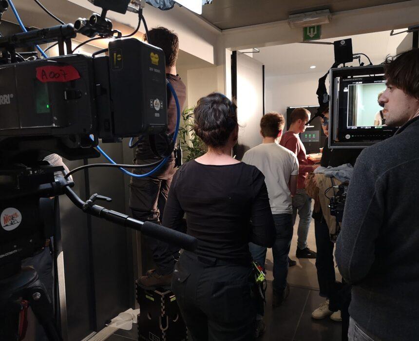 Film crew in Greenhouse Antwerp