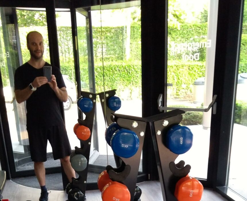 Selfie in the gym