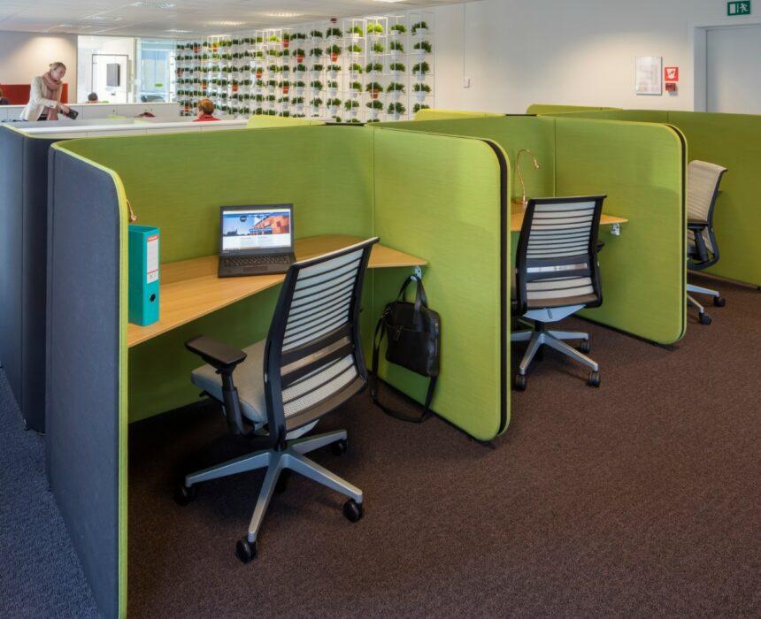 Groene coworkingruimte in Greenhouse Mechelen