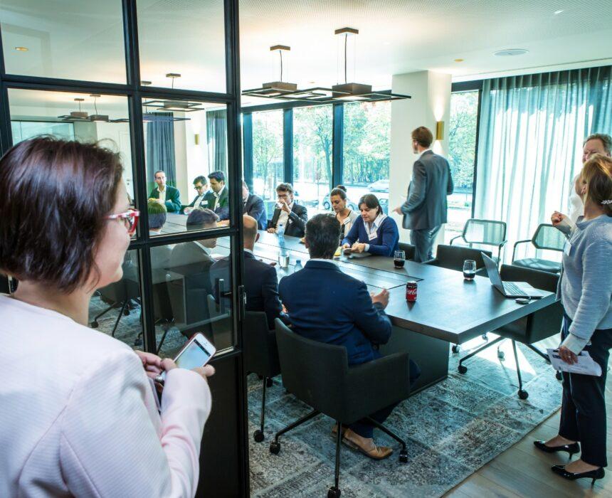 Meeting in the Boardroom in Greenhouse Antwerp