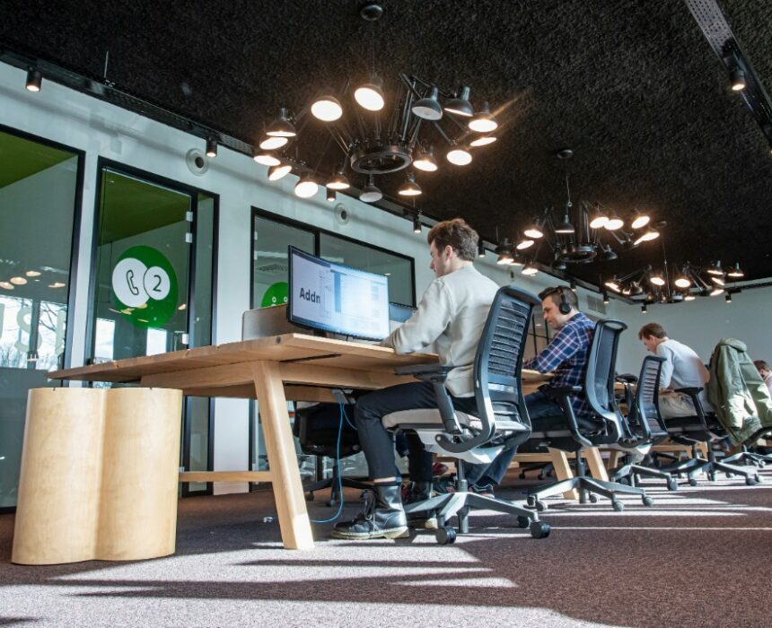 Co-working environment in Greenhouse Antwerp