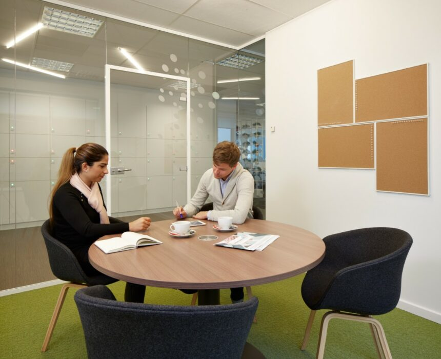 A meeting in the Amika meeting room