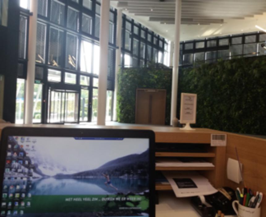 Niels working in Greenhouse BXL