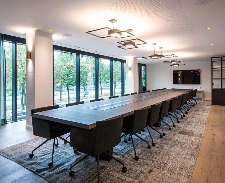 De vergaderzaal van de boardroom in Greenhouse Antwerp
