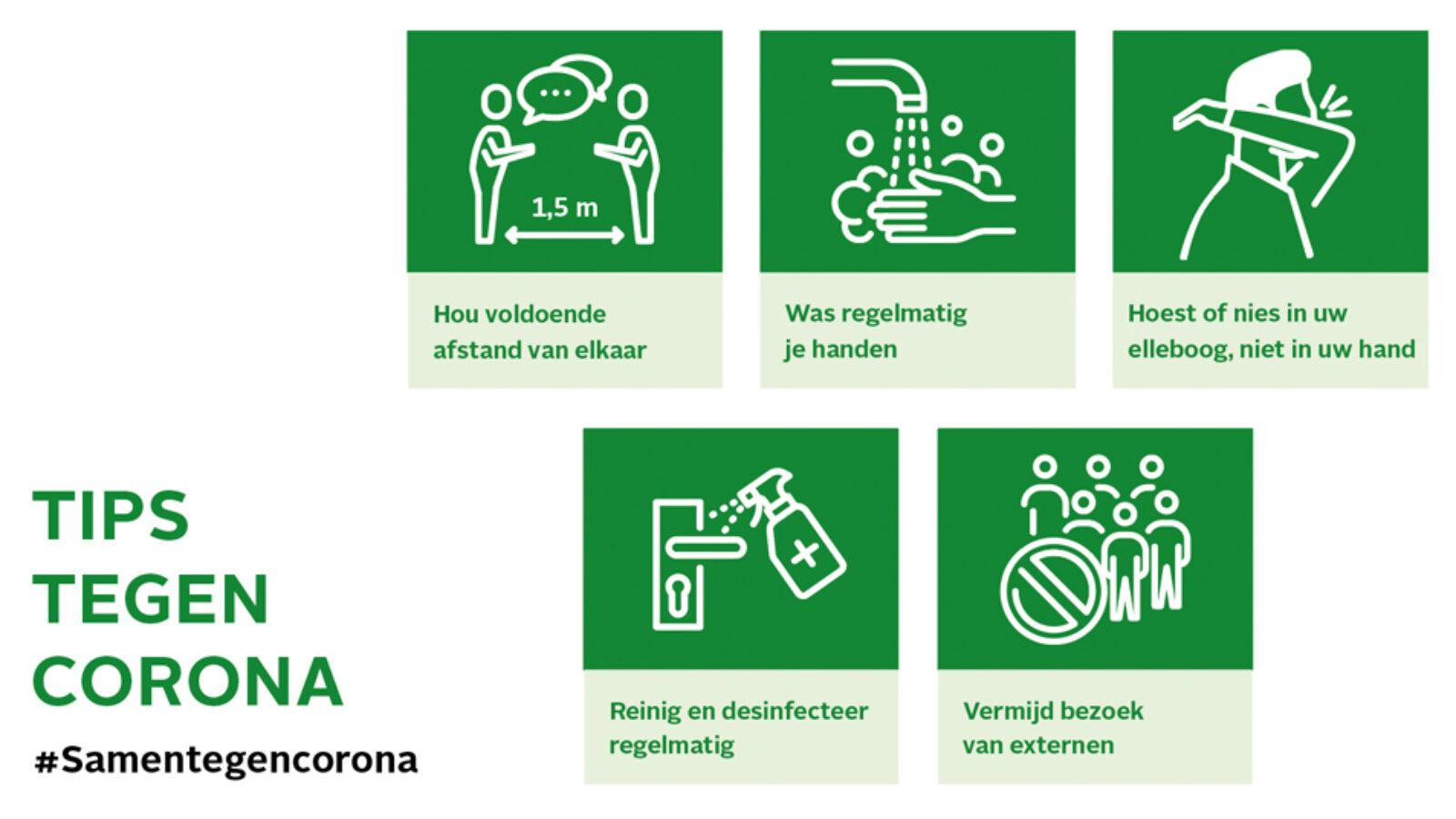 Tips corona maatregelen