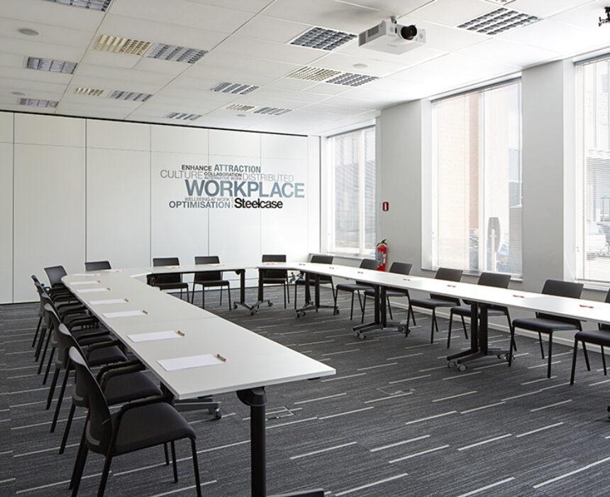 Overzicht van meeting room Novigo