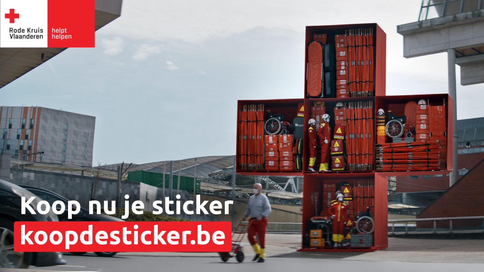 Rode kruis stickeractie